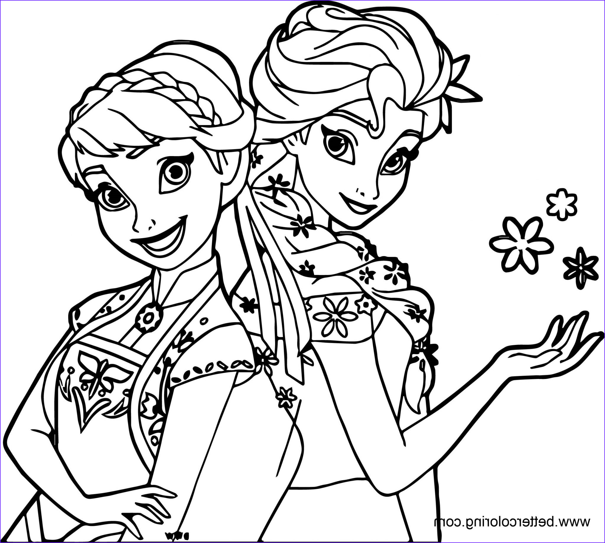 Elsa and Anna Coloring Pages Beautiful Photography Frozen Elsa and Anna Coloring Pages Free Printable
