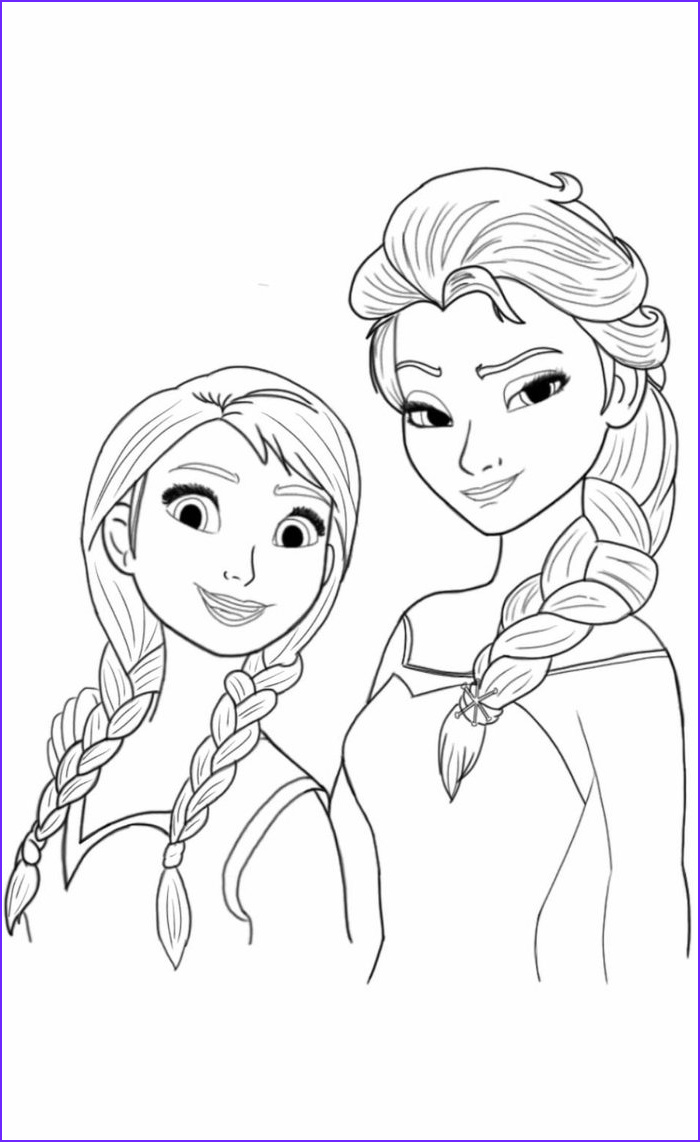 Elsa and Anna Coloring Pages Elegant Collection Elsa and Anna Coloring Page by theroyalprincesses On