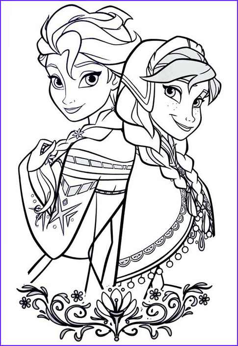 best elsa anna coloring pages printable 4577