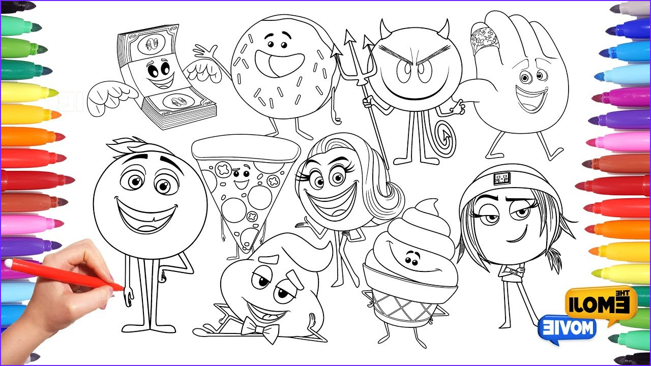 Emoji Coloring Book Beautiful Image the Emoji Movie Coloring Pages for Kids