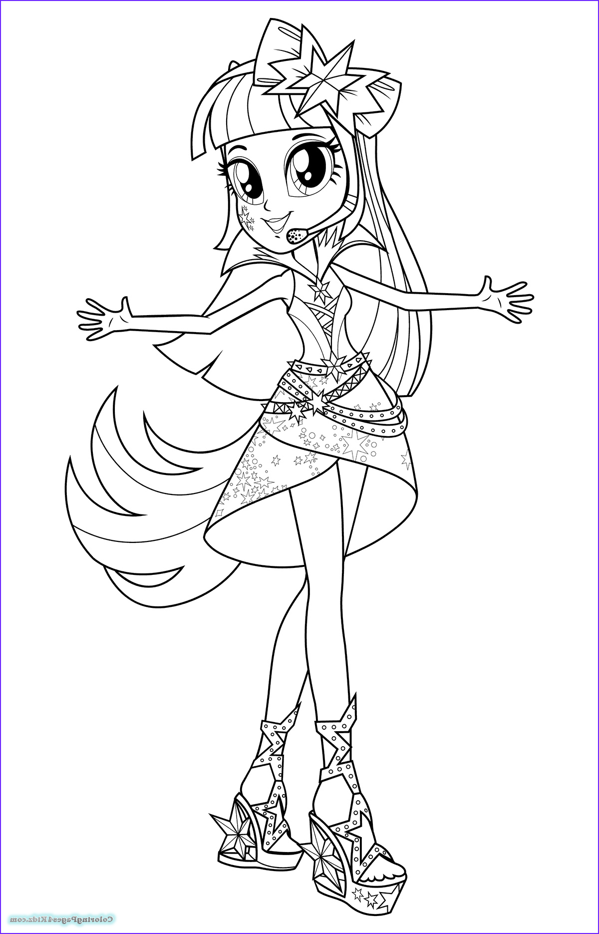 equestria girls rainbow rocks coloring pages 1010