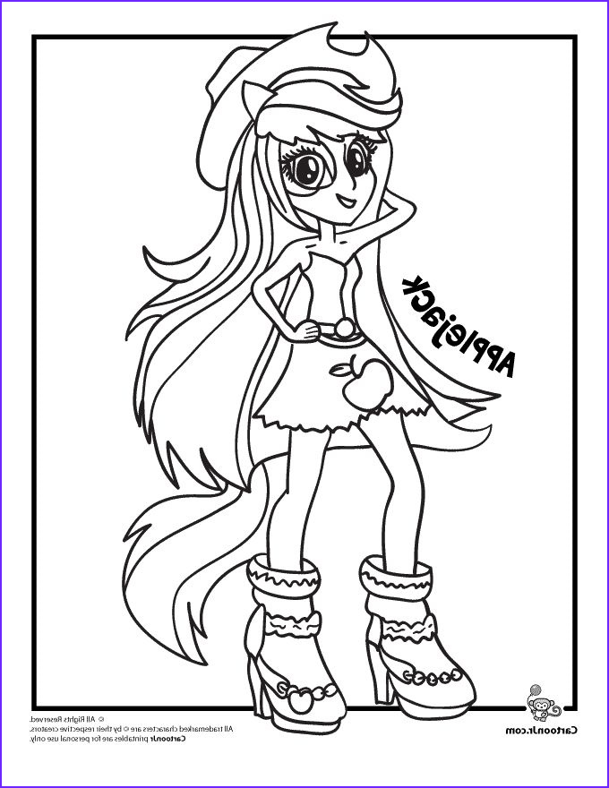 Equestria Girls Rainbow Rocks Coloring Pages Inspirational Collection Applejack My Little Pony Rainbow Rocks Equestria Girls
