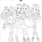 Ever After High Coloring Pages New Photos Ever After High Raven Madeline Briar And Apple Coloring