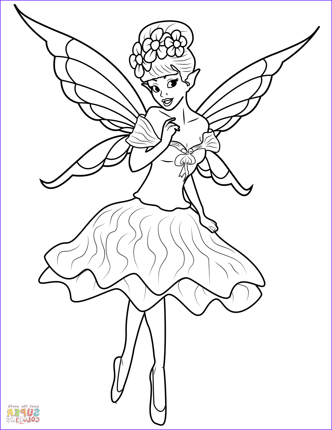 Fairy Coloring Book Awesome Collection Fairy Coloring Page