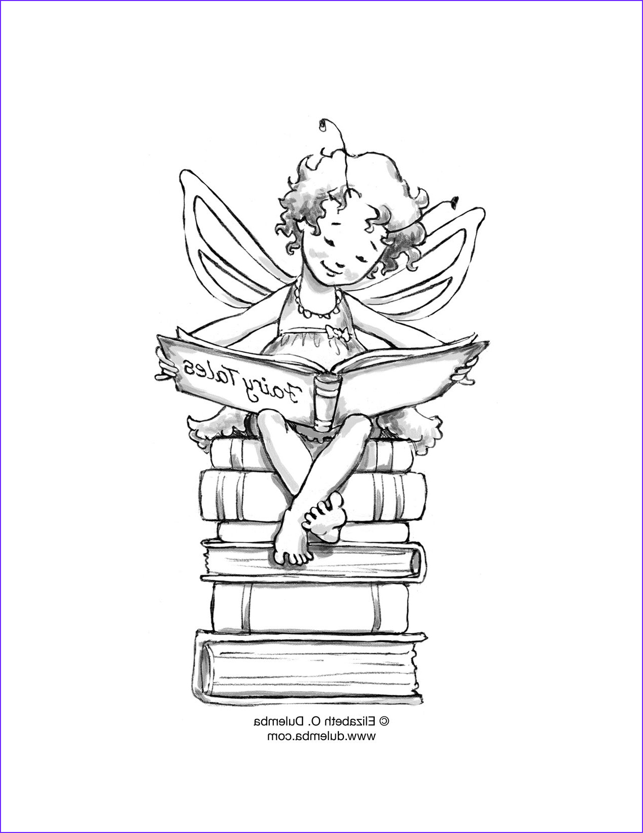 Fairy Coloring Books Awesome Collection Reading Fairy Would Love To A Print Of This For