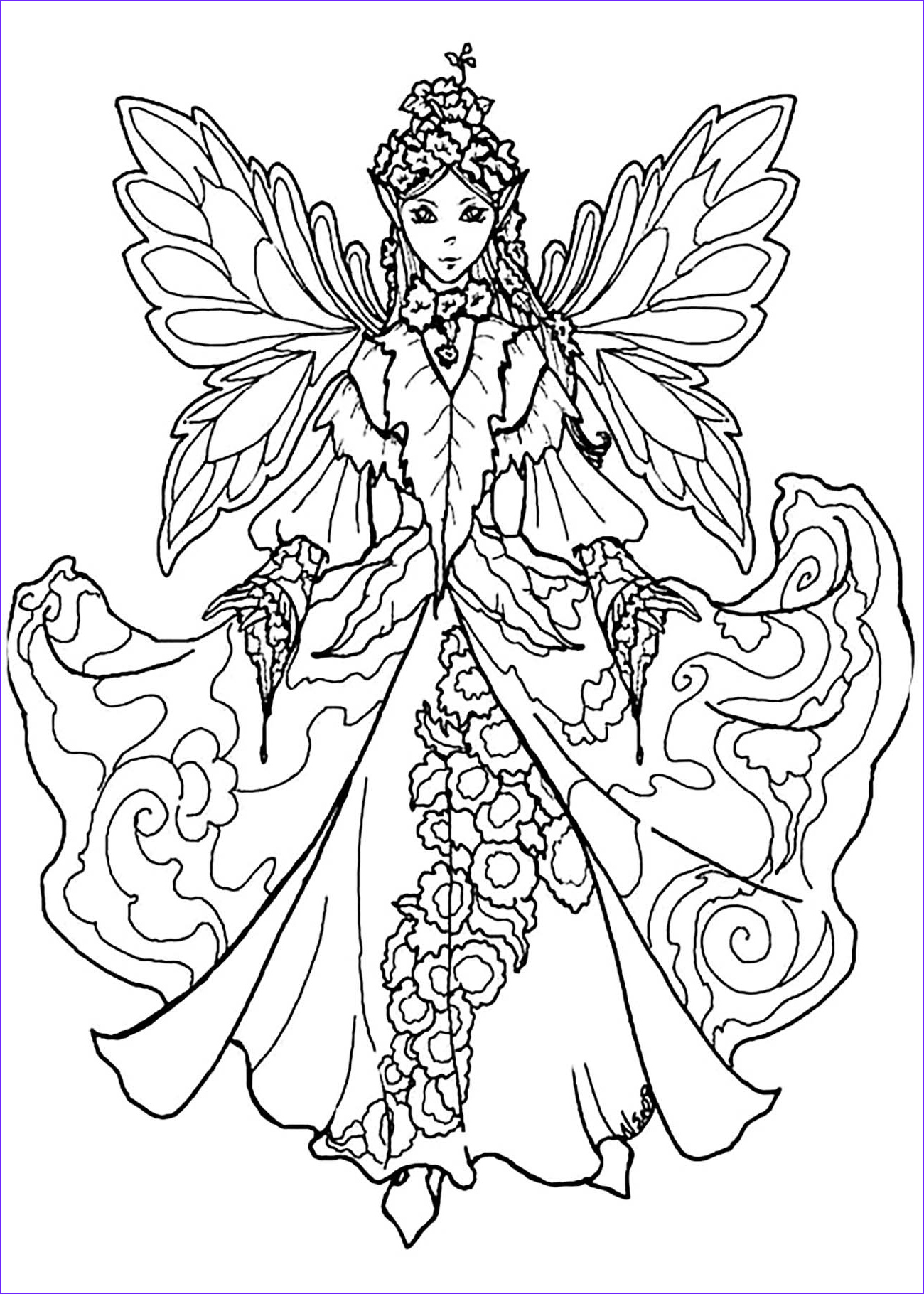 Fairy Coloring Books Beautiful Collection Fairy Coloring Pages for Adults Best Coloring Pages for Kids