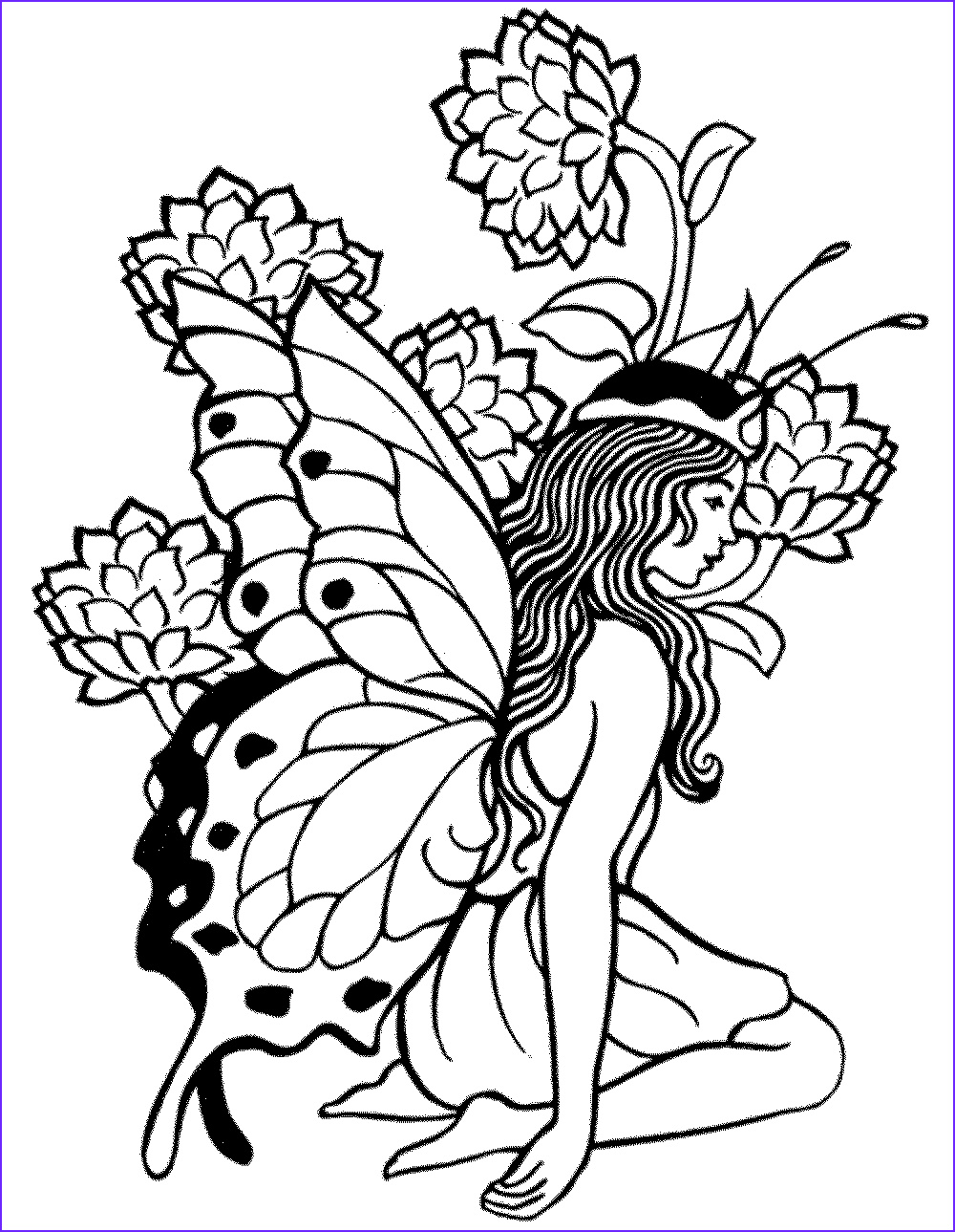 printable adult coloring pages fairy