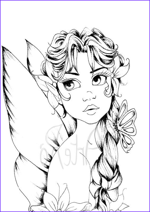 Fairy Coloring Pages for Adults Best Of Photos Fairy Coloring Page the Art therapy …