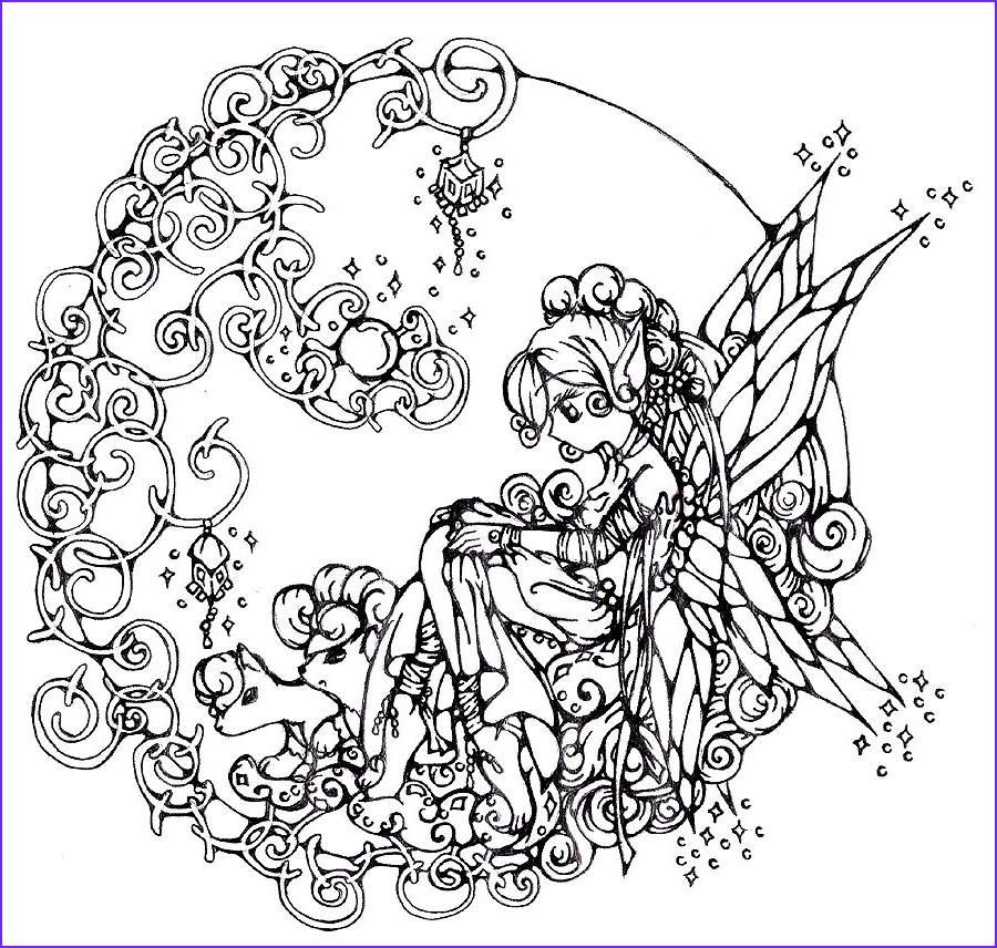 fairy circle coloring page