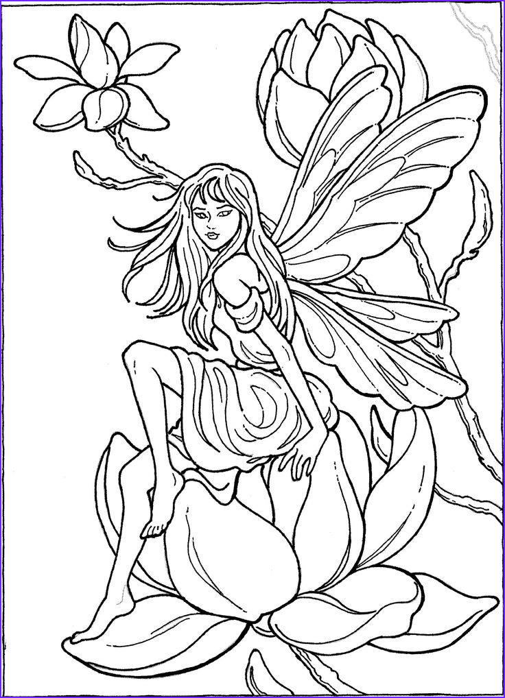 Fairy Coloring Pages for Adults Inspirational Image 820 Best Fantasy Coloring Fairy Kingdom Images On