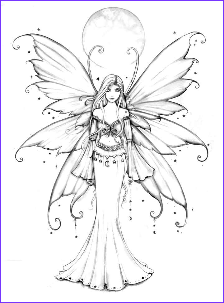 Fairy Coloring Pages for Adults Inspirational Photos Free Fairy Coloring Page by Molly Harrison