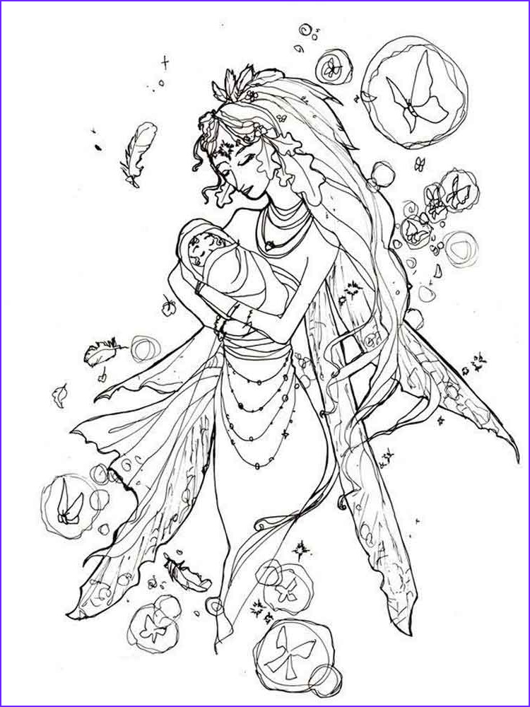 fairy coloring pages for adult
