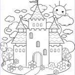 Fairy Tale Coloring Book Luxury Photos Fairy Tale Castle And Flowers Coloring Page Stock