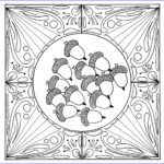 Fall Adult Coloring Pages Best Of Photography Fall Acorn Mandala Adult Coloring Page
