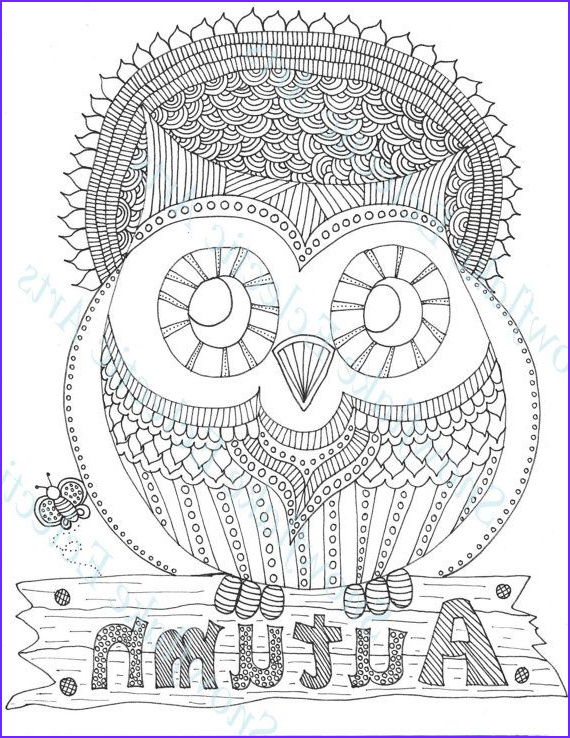 Fall Coloring Pages Adults Inspirational Photos Diy Coloring Page Instant Pdf Digital Download