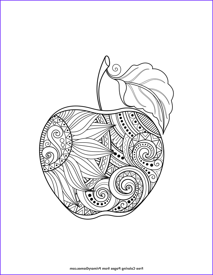 Fall Coloring Pages Adults Luxury Images Fall Coloring Pages Ebook Zentangle Apple
