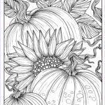 Fall Coloring Pages For Adults Awesome Collection 5 Pages Fabulous Fall Digital Downloads To Color Punpkins