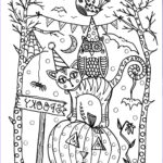 Fall Coloring Pages For Adults Beautiful Collection 5 Pages Instant Download Halloween Coloring Pages 5