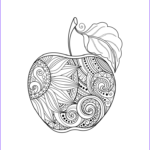Fall Coloring Pages For Adults Cool Photos Fall Coloring Pages Ebook Zentangle Apple