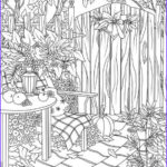 Fall Coloring Pages For Adults New Collection Autumn Garden Printable Adult Coloring Page From Favoreads