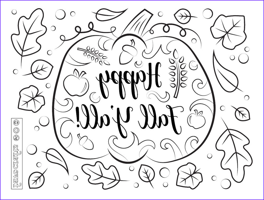 happy fall yall coloring page