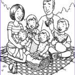 Family Coloring Pages New Images Family Picnic