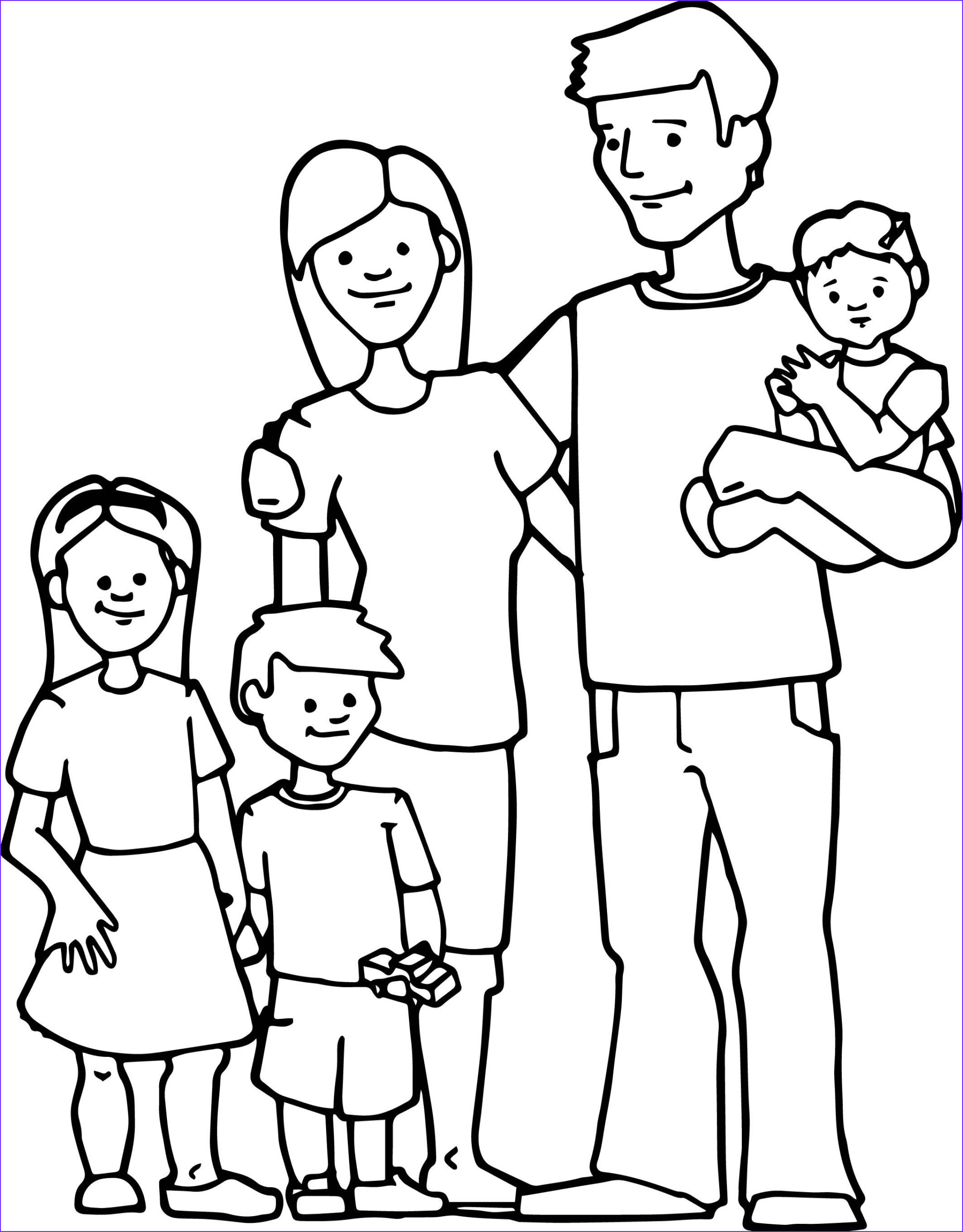 Family Coloring Sheet Beautiful Collection Family Kids Coloring Page 2129×2722