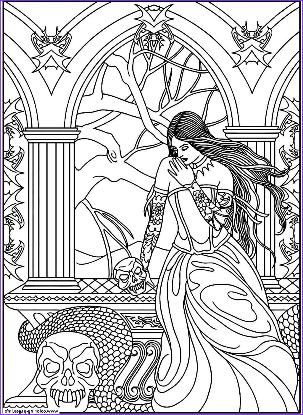 fantasy adult coloring pages