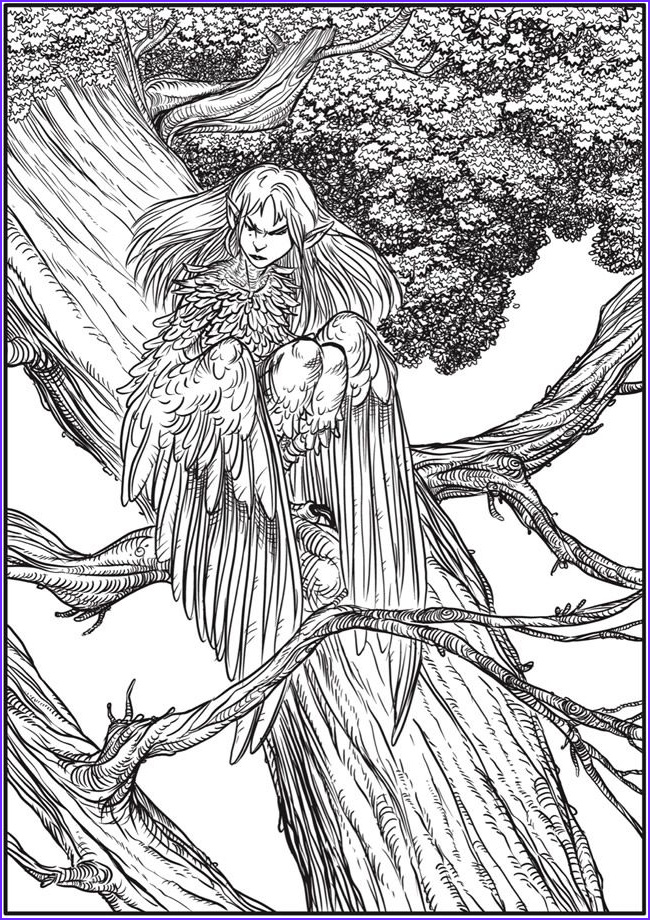 Fantasy Adult Coloring Pages Beautiful Photography Creative Haven Winged Fantasy Designs Coloring Sheets