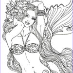 Fantasy Adult Coloring Pages Beautiful Stock Flower Mermaid By Artist Diane S Martin Mermaid Fantasy