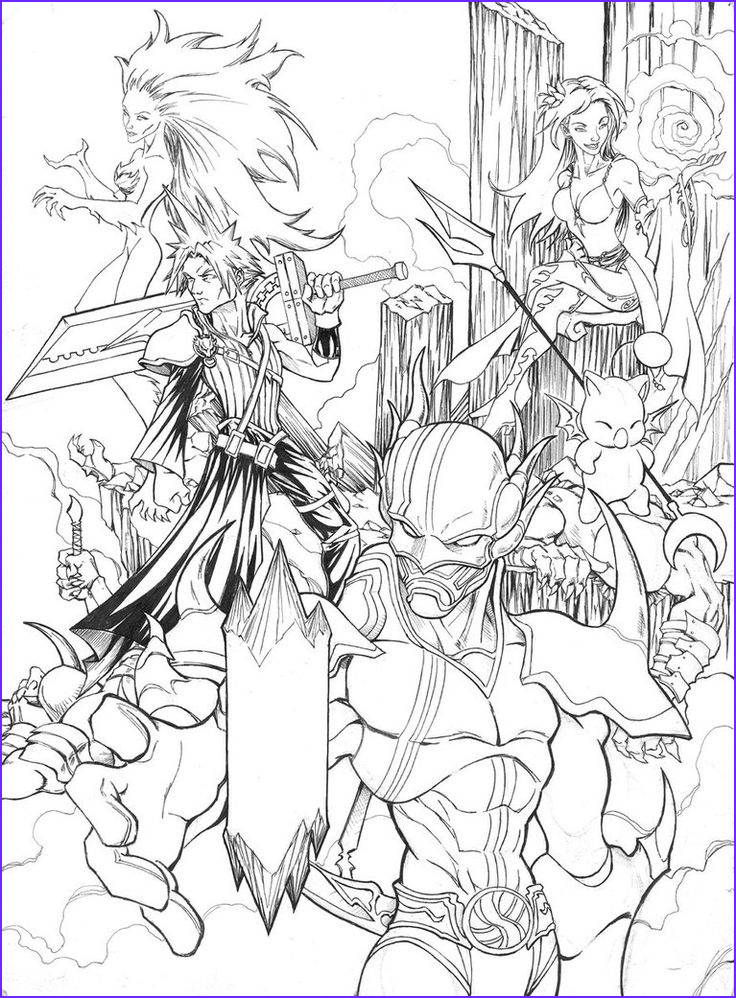fantasy colouring pages