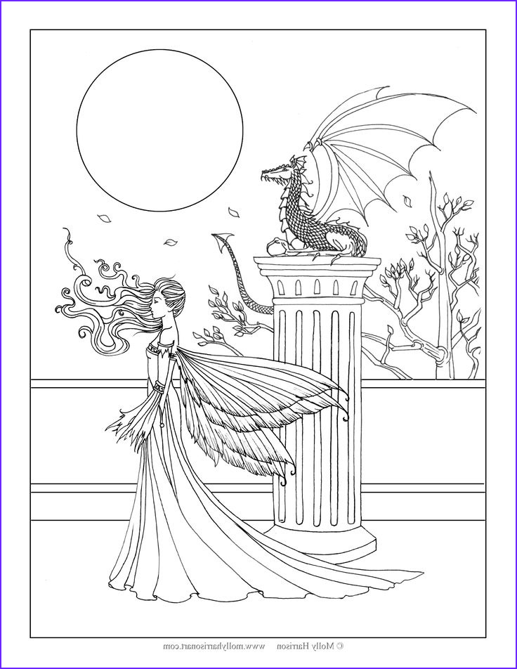 Fantasy Adult Coloring Pages Cool Photography 569 Best Images About Coloriage Fantasy On Pinterest