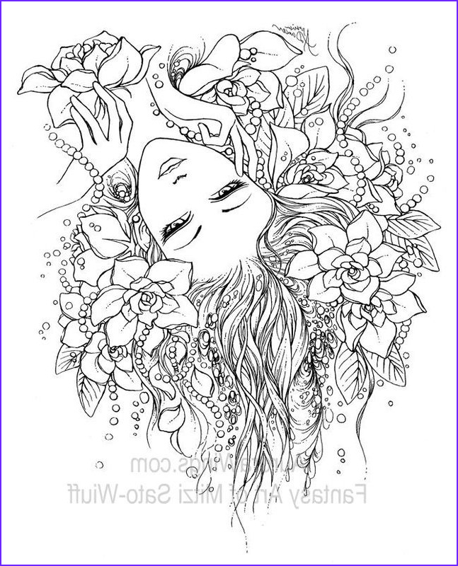 Fantasy Adult Coloring Pages Cool Stock Coloring Book 1 Aurora Wings Fantasy Art Of Mitzi Sato