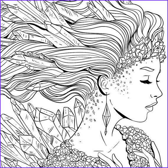 Fantasy Adult Coloring Pages New Photography Adult Coloring Page Fantasy Crystal Line Art