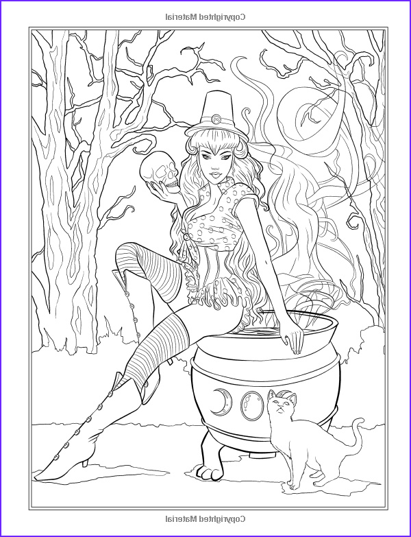 Fantasy Adult Coloring Pages New Photos Gothic Dark Fantasy Coloring Book Fantasy Art Coloring