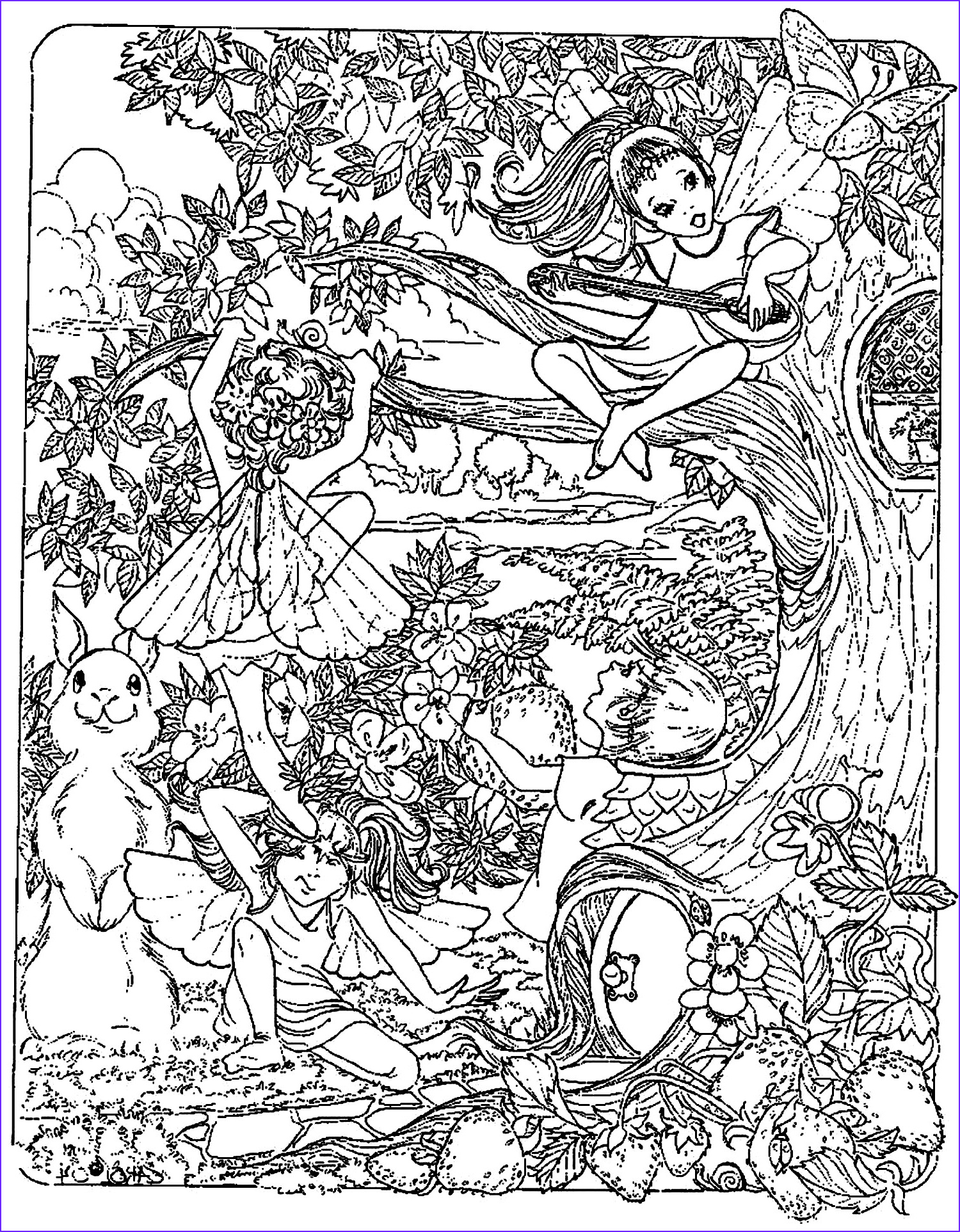 Fantasy Adult Coloring Pages New Stock Fantasy Child Elves Myths & Legends Adult Coloring Pages