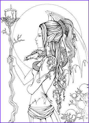 Fantasy Coloring Book Beautiful Collection Mystical A Fantasy Coloring Book