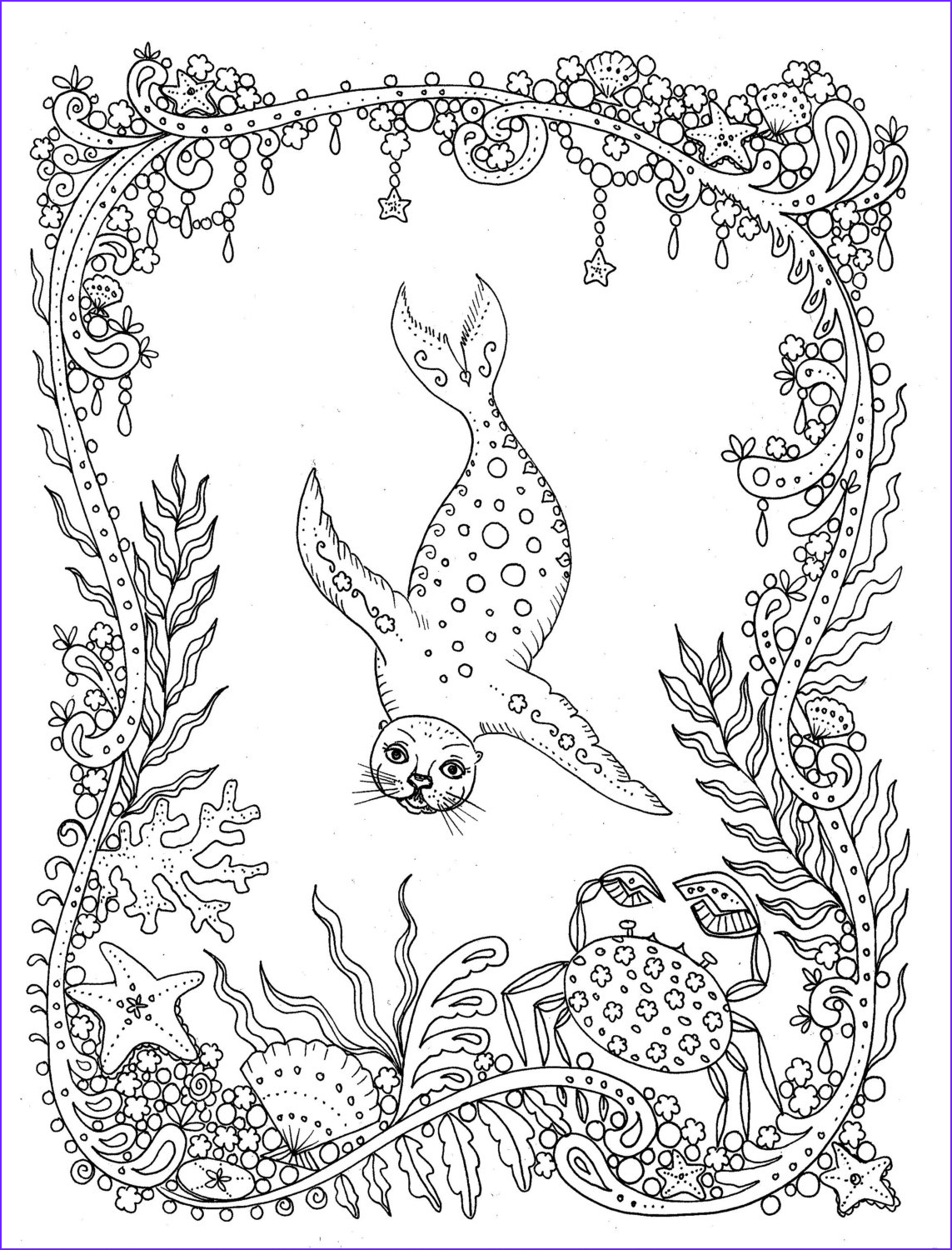 Fantasy Coloring Book Inspirational Collection Download Coloring Page Fantasy Seal You Be the Artist