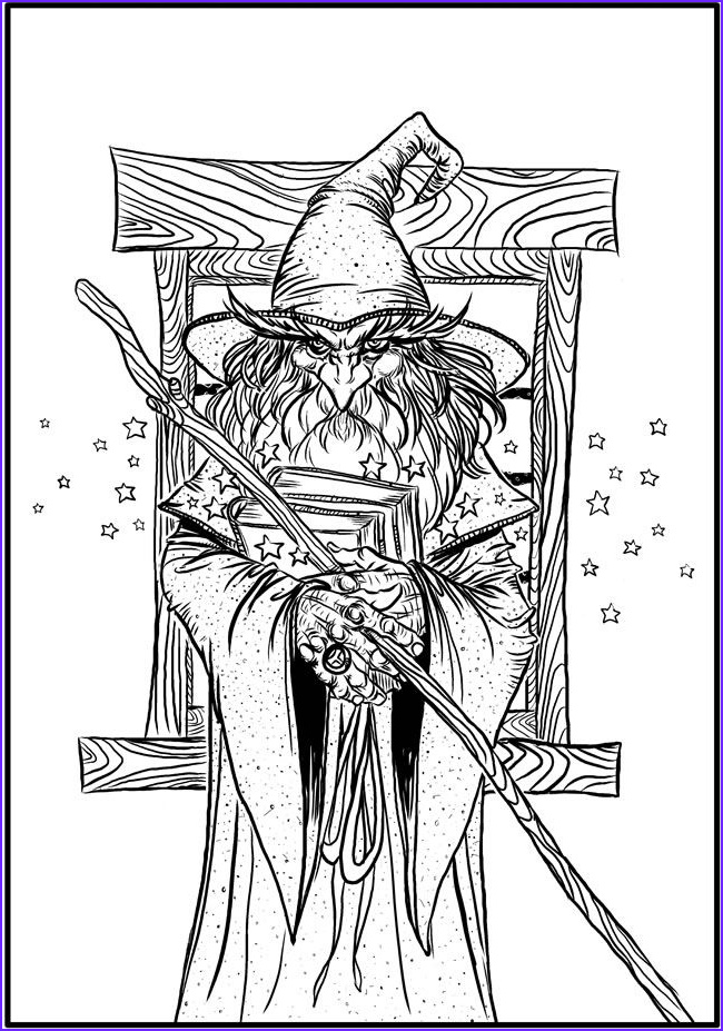 fantastical coloring pages