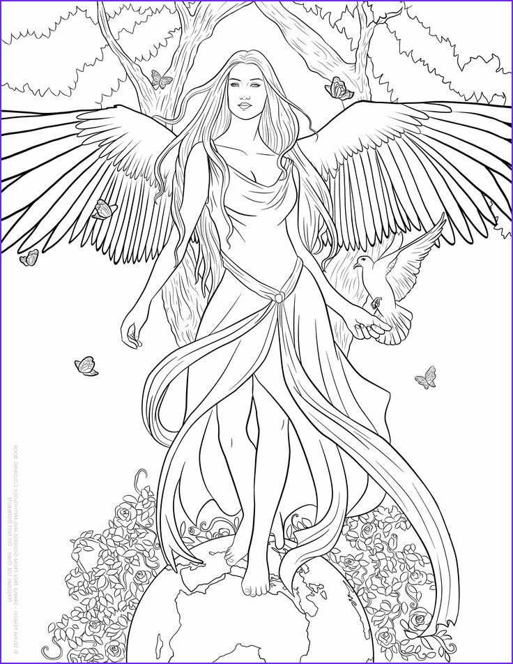 Fantasy Coloring Pages for Adults Beautiful Photos Pin by Erica Nicole On Color Me Crazy