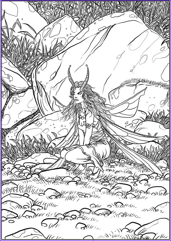 Fantasy Coloring Pages For Adults Beautiful Stock 710 Best Images About Coloring Pages Fantasy On Pinterest