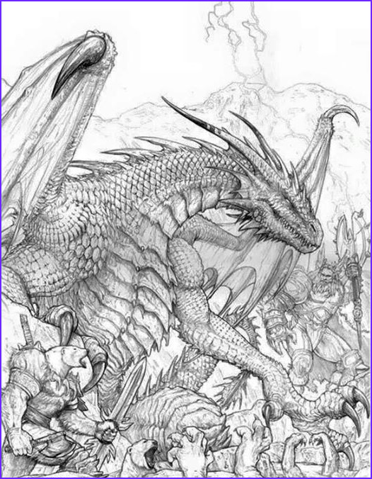 dragons to color