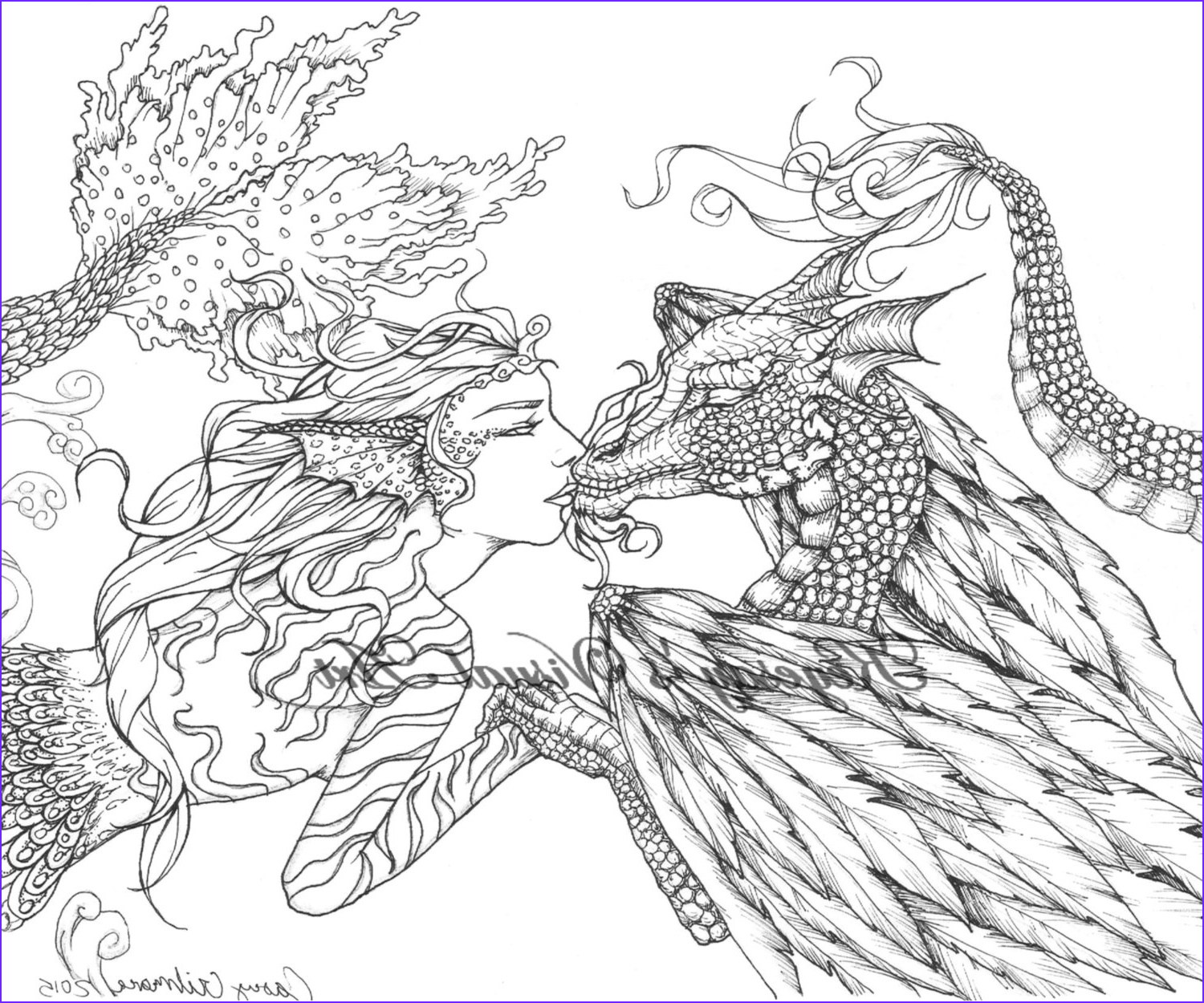 Fantasy Coloring Pages For Adults Inspirational Photography Adult Fantasy Coloring Page Digital Download Digi Print