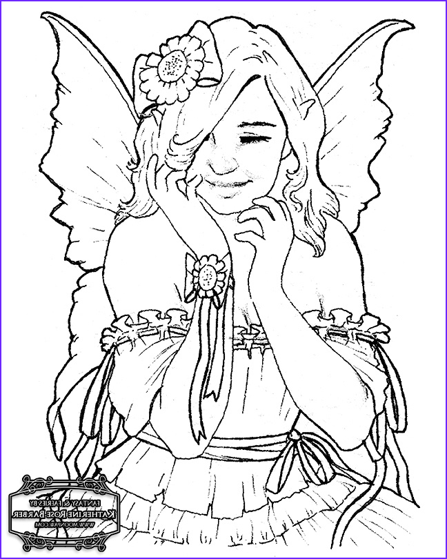 free fairy coloring pages by katherine