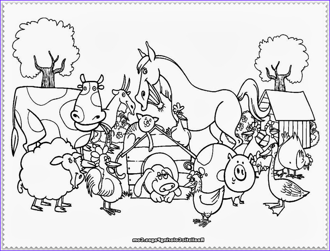 animal farm coloring pages