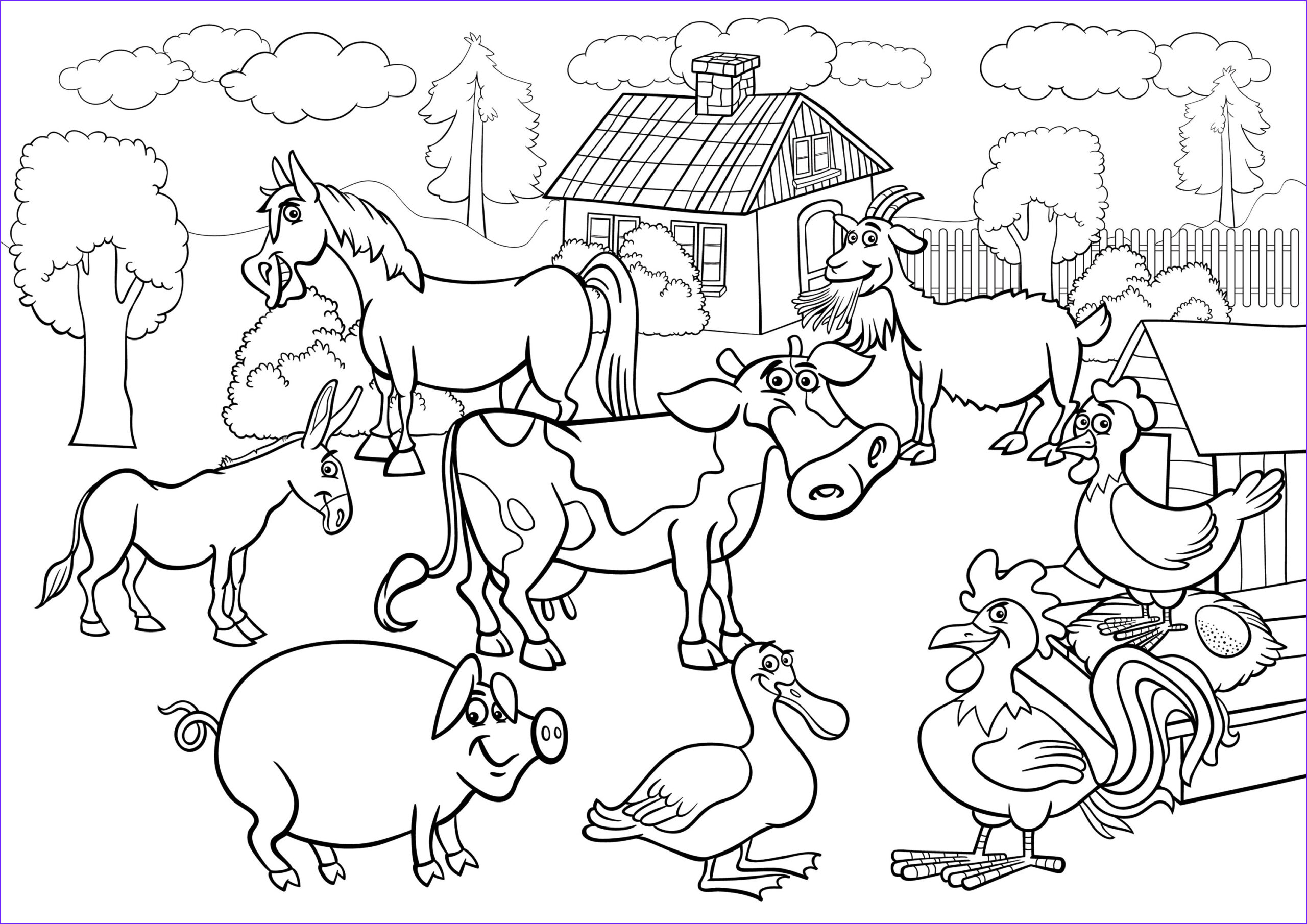 farm scene coloring pages coloring sketch templates