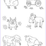 Farm Animal Coloring Pages Inspirational Photos Free Printable Farm Animal Coloring Pages For Kids