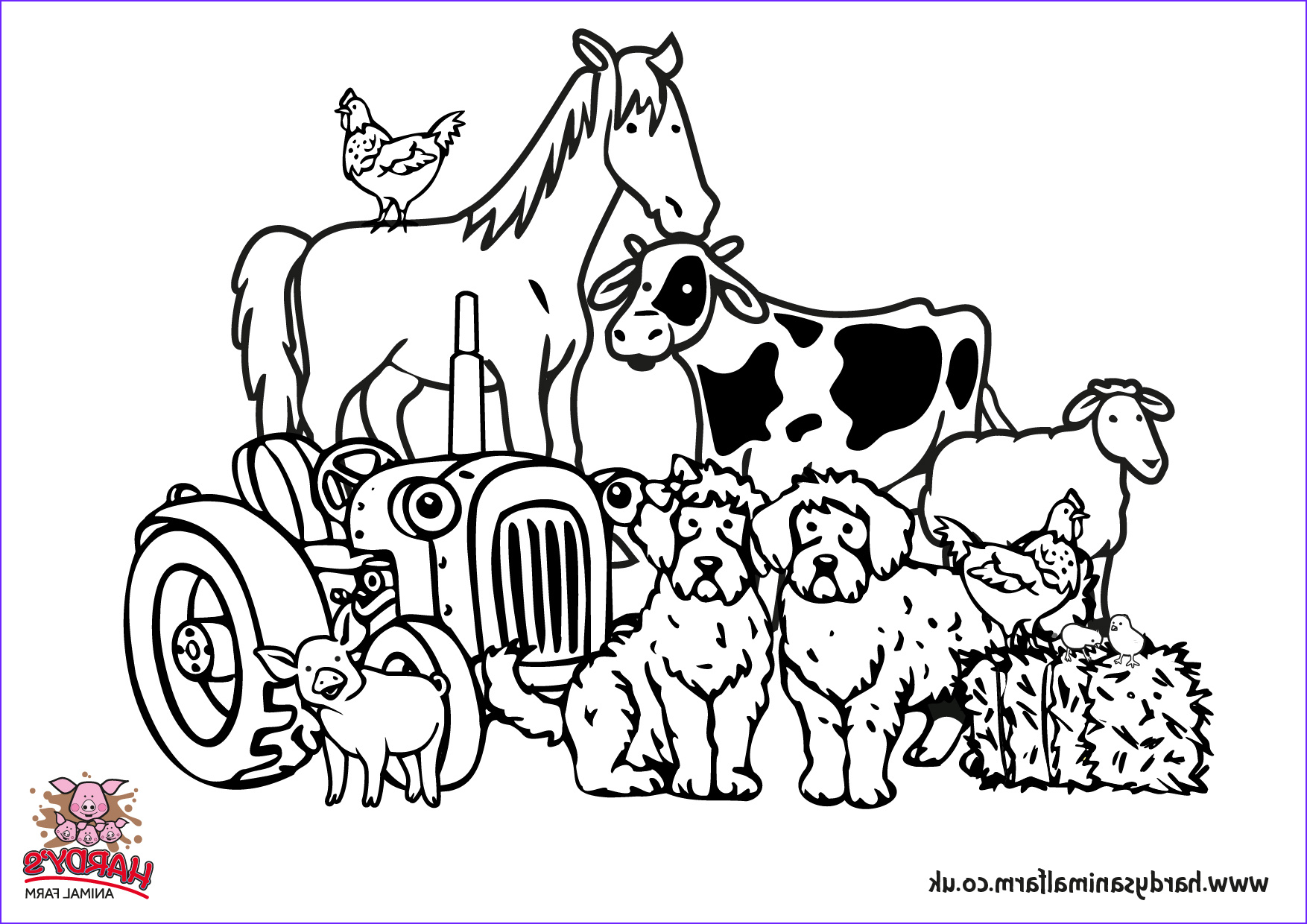 Farm Animals Coloring Sheets Awesome Collection Colouring Pages Hardys Animal Farm