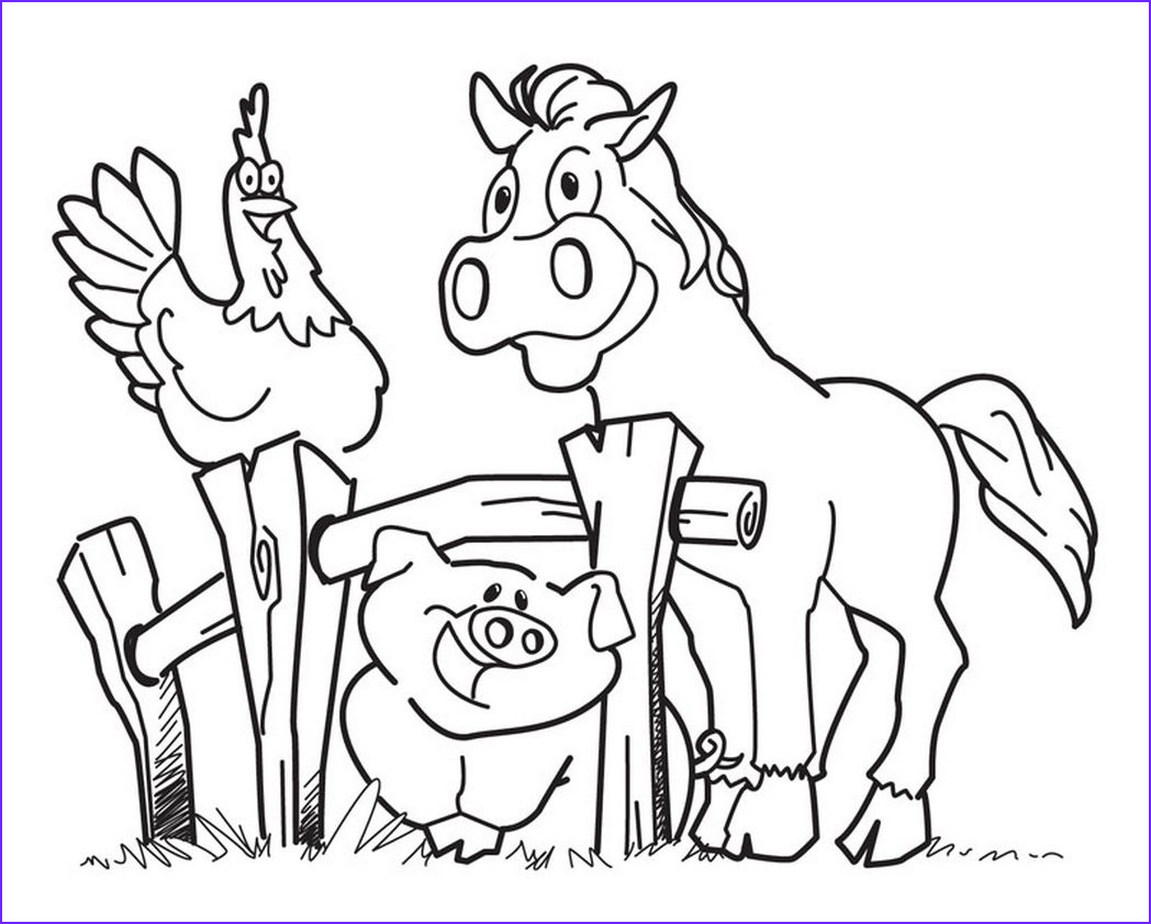 Farm Animals Coloring Sheets Luxury Gallery Diy Farm Crafts and Activities with 33 Farm Coloring