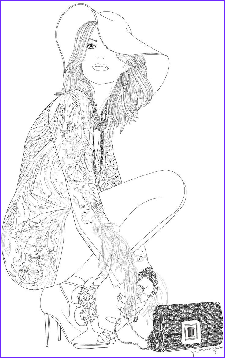 coloring pages mode people